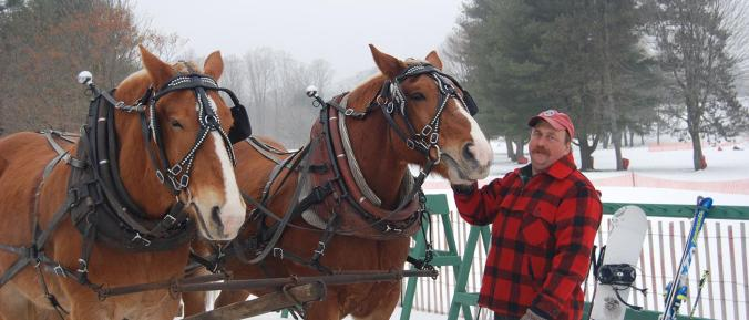 Quechee Club organizes tons of family activities - there are free Sleigh Rides from Quechee Base Lodge (next to Ski Mountiain & Sledding Hill).