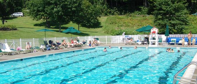 Quechee Club boasts a huge, heated outdoor pool (and baby pool) for a summertime splash.