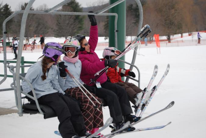 Quechee's Ski Mountain sports 3 lifts, 13 trails, Terrain Park - and child care.  Perfect for younger kids!  Want more intense action?  Suicide Six, Sunapee and Killington are all short drives.